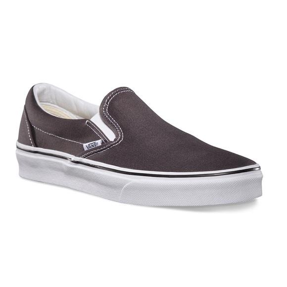 Vans Shoes | Grey Slip On Vans | Poshmark
